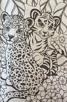 lisa frank coloring pages tiger - photo#10