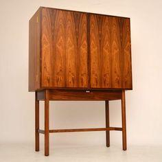 Rosewood retro drinks cabinet Danish vintage for sale London | retrospectiveinteriors.com