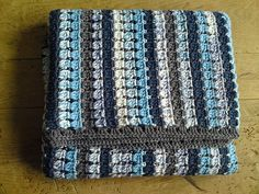 52 Trendy Ideas For Crochet Blanket Blue Grey Colour Love Crochet, Crochet Granny, Baby Blanket Crochet, Diy Crochet, Crochet Crafts, Crochet Stitches, Crochet Hooks, Crochet Baby, Crochet Projects