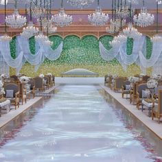 Instead of flying guests to France, Nouf and her family trusted Nasheed to create a destination wedding experience by building a French palace inside the Four Seasons Hotel Riyadh at Kingdom Centre. #wedding #destinationwedding #riyadhwedding #weddingceremonydecor #frenchtheme #fourseasonswedding #fourseasonsriyadh #kingdomcentre #nasheedevents
