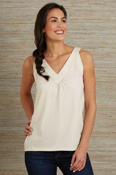 5cbc71e429a Fair Indigo Fair Trade Organic V-neck Tank. 100% organic pima cotton fabric
