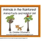 Animals in the Rainforest is a unit the includes 12 animalsand a habitat poster which can be used for a matching center in either color or black/wh...