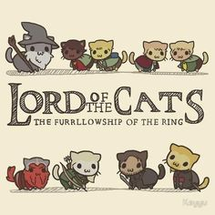 Lord of the Cats. Lol (meow) Lord of the Rings humor. Always good.