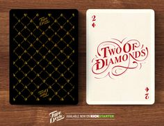 The Type Deck - Typography Playing Cards & T-Shirts by Chris Cavill, via Behance