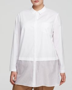 Lafayette 148 New York Plus Neptune Blouse | Bloomingdale's