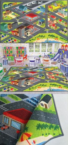 Rugs Kev And Cooper Playtime Collection Road Map Educational Area Rug