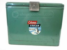shopgoodwill.com: Vintage Metal Coleman Cooler Ice Chest