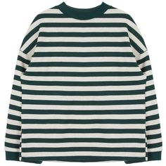 Stripe Patterned Long Sleeve T-Shirt ($20) ❤ liked on Polyvore featuring tops, t-shirts, clothing - ls tops, sweaters, bunny t shirt, long sleeve tees, stripe tee, sports tees and sports t shirts