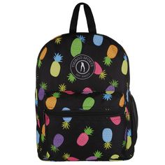 Full of tropical fun with room for all your gym essentials, the Pineapple Party Backpack features colourful random pineapples on a practical dark base. Keep it poolside, take to the gym or use as your carry-on when you jet off on hols. It's splash-proof, sturdy and super cool.  There's plenty of space for your towel, clothes, shoes and washbag plus a handy netted side pocket for your drinks bottle. Adjustable shoulder straps allow you to travel hands-free and distribute weight comfortably. Gym Essentials, Gym Bags, Vera Bradley Backpack, Shoulder Straps, Pineapple, Jet, Towel, Tropical, Base