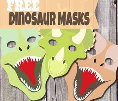 dinosaurie drake diy mask barn pyssel tips inspiration