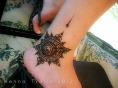 ankle mandala henna festival style by Henna Trails, via Flickr