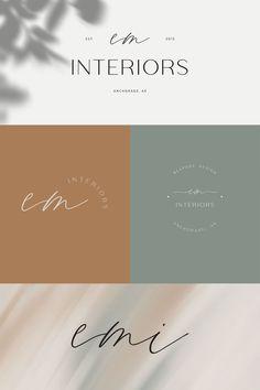 design, interiors, lifestyle, minimal, elegant, feminine, neutral, branding, logo design Interior Design Business, Elegant Logo, Logo Design Inspiration, Identity Design, Design Layout, Graphic Design, Minimal, Group, Lifestyle