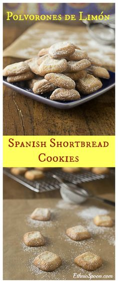 Spanish Christmas cookies: Polvorones de Limón. A really simple unique cookie for the holidays. | ethnicspoon.com