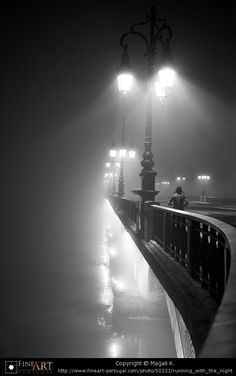 Running with the night by Magali K