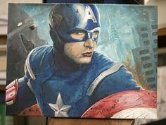 Captain America, acrylic paint on canvas