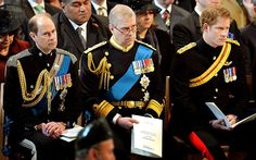 The Earl of Wessex, The Duke of York and Prince Harry attend the Afghanistan Service at St Paul's Cathedral to remember the 453 servicemen and women who died in Afghanistan, 13 March Prince Henry, Prince Andrew, Royal Prince, Prince Philip, Duchess Of York, Duke Of York, Duke And Duchess, Duchess Of Cambridge, Queen Elizabeth