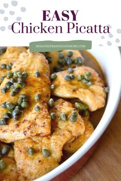 Chicken Piccata, Easy Family Meals, Lemon Recipes, Yum Yum Chicken, Easy Chicken Recipes, Poultry, Breakfast Recipes, Curry, Food And Drink