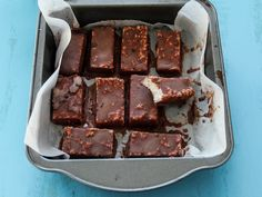 Bounty Bars Serves eight  Ingredients  Coconut Layer 1 c. coconut milk 4 tbsp. brown rice syrup 3 tbsp. coconut oil 2 c. desiccated coconut ...