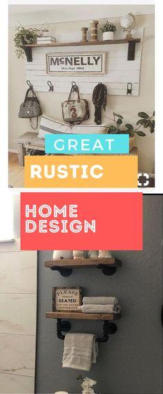 Brilliant Rustic Home Design #rusticdecoration #rusticideas Rustic Home Design, Diy Rustic Decor, Rustic Theme, Diy Home Decor, House Design, Decoration, Pretty, Top, Inspiration