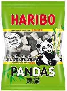 -in USA- HARIBO Pandas - soft marshmallow gummy candy -