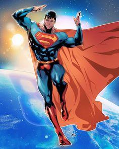 ArtStation - Superman Act,on olifux art Superman Family, Superman Man Of Steel, Batman Vs Superman, Superman Stuff, Arte Dc Comics, Marvel Comics, Comic Books Art, Comic Art, Univers Dc