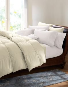 Your favorite smooth 400 thread count cotton sateen is filled with just the amount of our lofty 600 Fill Power European Duck Down for . King Size Comforter Sets, King Size Comforters, Down Comforter, Duvet Bedding, Bedding Sets, Bed Sheets, Pottery Barn, Ikea, Modern