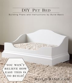DIY Pet Bed - Building Plans by Build Basic @BuildBasic www.build-basic.com