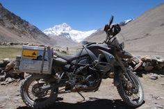 Scottoiler make it to #Everest! #motorbike #globebusters