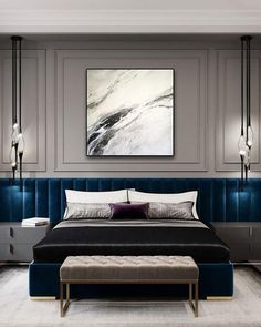 Original Painting On Canvas Abstract Painting On Canvas Home Interior Interior Design And Decor Marble Imitation Large Original Painting Original Painting On Canvas Abstract Painting On Canvas Home Etsy Elegant Bedroom Design, Luxury Bedroom Design, Master Bedroom Design, Home Bedroom, Modern Bedroom, Bedroom Furniture, Bedroom Decor, Bedroom Designs, Minimalist Bedroom