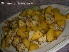 Hankka: Brassói csirkepecsenye Sweet Potato, Potatoes, Meat, Vegetables, Recipes, Food, Vegetable Recipes, Eten, Veggie Food