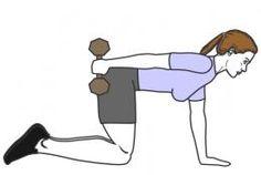 Muscler le dessous des bras avec haltère