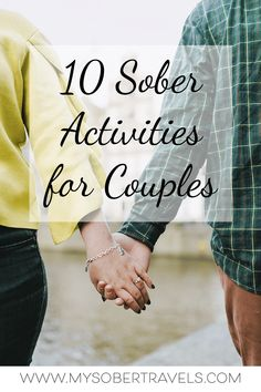 Mar 2020 - Need fun and alcohol-free date night ideas for you and your partner? Here are 10 sober activities for couples that don't involve TV or alcohol! Go Sober, Sober Life, Giving Up Alcohol, Alcohol Free, Fun Couple Activities, Quitting Alcohol, Getting Sober, Quit Drinking, Sober Living