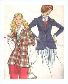 Vintage Vogue Sewing Pattern 8473 Misses Jacket 1970's Size 12  $3.50