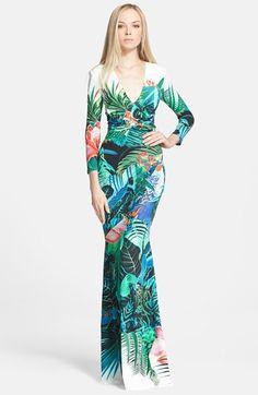 Roberto Cavalli Robert Cavalli Mystique Print Gown available at #Nordstrom