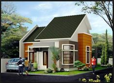 Modern minimalist home design 1 floor - The house is a person's basic needs to be used as a residence. Home Design, Small House Design, Modern House Design, Design Ideas, D House, Facade House, One Storey House, Modern Minimalist House, Build Your House