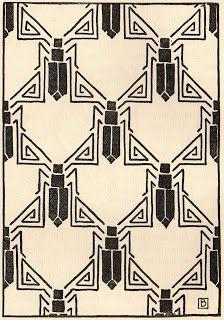 Art Deco Insect Symbols
