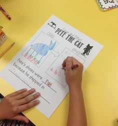 Pete the Cat Freebies on cause and effect and character