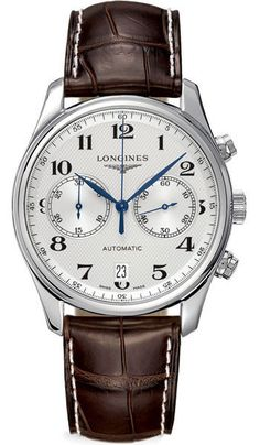 Longines Watch Master Collection Mens #bezel-fixed #bracelet-strap-leather…