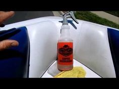 Boat Cleaning and Detailing: How to clean vinyl upholstery - YouTube