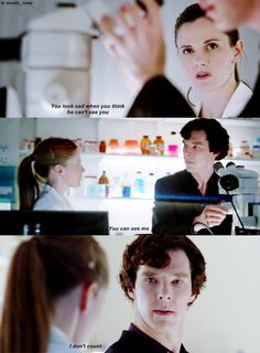 """You're wrong, you know. You do count. You've always counted and I've always trusted you.""  Sherlock and Molly - always Sherlock and Molly."