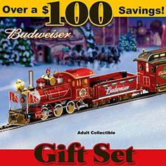 Budweiser Holiday Express Train Gift Set