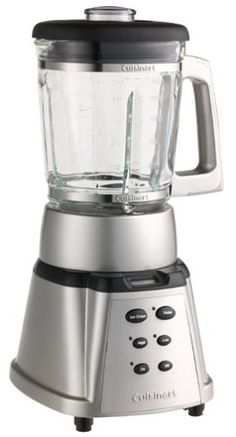 Cuisinart CBT-500 SmartPower 600-Watt Premier Power Blender, Brushed Stainless Heavy die-cast metal base prevents jumping. Digital count-up timer; flashing LED lights. 50-ounce glass jar with durable plastic handle. Measures 9-3/8 by 8-1/2 by 16-1/2 inches.  #Cuisinart #Kitchen