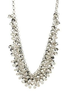Luxe Crystal & Metal Cluster Necklace by Show-Stopping Necklaces on @HauteLook