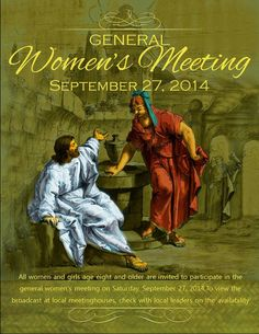Didi @ Relief Society: September 2014 General Women's Meeting - flyer