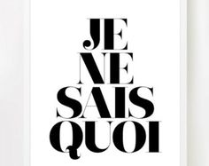 je nais se quoi - an indefinable, elusive quality, especially a pleasing one: She has a certainje ne sais quoi that charms everybody.