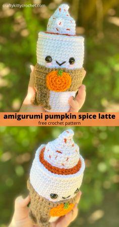 Crochet Fall, Easy Crochet, Crochet Toys, Free Crochet, Beginner Crochet, Yarn Projects, Crochet Projects, Pumpkin Applique, Crochet Pumpkin Hat