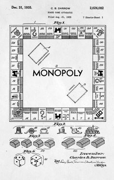 wirewind:    Monopoly Patent  Even though this game goes forever and I never win.. I like it :)