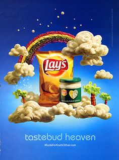 I saved the best for last, a baroque in colour print ad for Lays. this is my favourite print ad for Lays, ever. Chip Packaging, Lays Potato Chips, Frito Lay, Creative Snacks, Name Card Design, Custom Website Design, Creative Advertising, Social Media Design, Ad Design