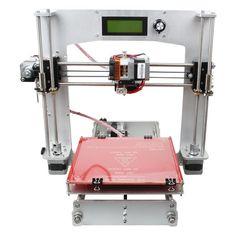(329.88$)  Watch here  - Aluminum Prusa I3 3D Printer DIY Kit Support 5 Filament 1.75mm 0.3mm / 0.35mm / 0.4mm