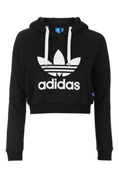 Adidas Jumper – Power Up The Day! adidas jumper cropped hoodie by adidas originals - topshop BMODUAQ Adidas Jumper, Adidas Trefoil Hoodie, Adidas Outfit, Adidas Cropped Hoodie, Top Adidas, Black Adidas, Cropped Hoodie Outfit, Addidas Shirts, Fashion Clothes